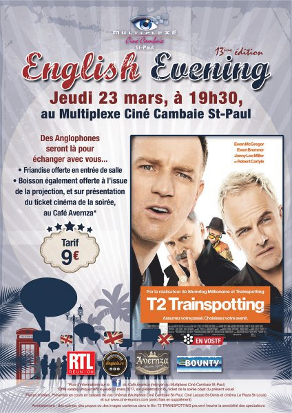 ENGLISH EVENING : T2 TRAINSPOTTING