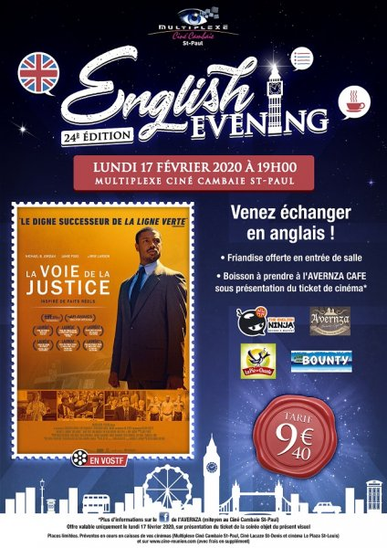 ENGLISH EVENING: LA VOIE DE LA JUSTICE
