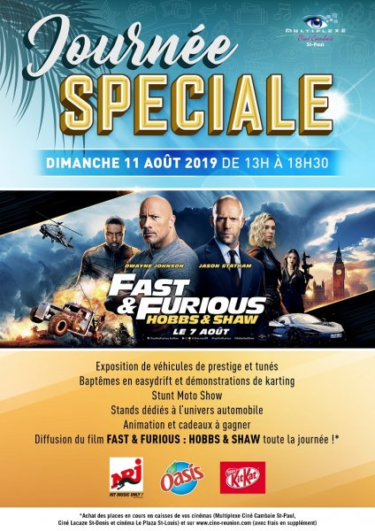 Journée de rassemblement FAST AND FURIOUS HOBBS AND SHAW