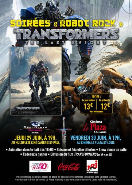 TRANSFORMERS : THE LAST KNIGHT : SOIREE SPECIALE ROBOT ROCK