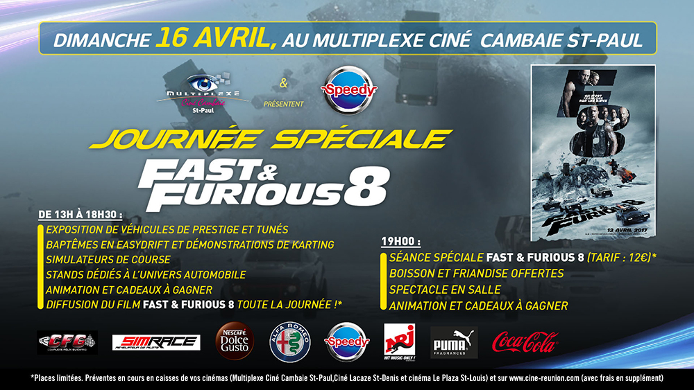 EVENEMENT JOURNEE DE RASSEMBLEMENT FAST & FURIOUS 8